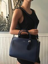 NWT Kate Spade Larson Atwood Place Oceanic Blue Large Satchel Bag Leather $429