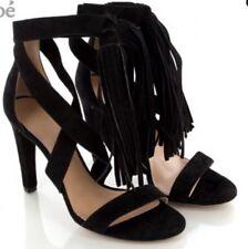 New & Authentic Chloe $595 Black Fringe Heels- 35