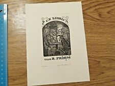 More details for lucek tauchman vintage ex libris for r.pribys,signed&numbered