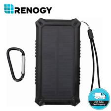 Open Box Renogy 15000mAh Solar Power Bank Outdoor USB Battery Charger Camping