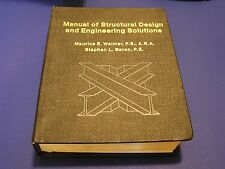 Manual of Structural Design and Engineering Solutions M. Walmer P.E. 1977 4th