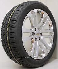 "New Set 4 Chrome 22"" Split Spoke Chevy Silverado Wheels Rims Bridgestone Tires"
