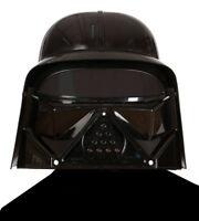 Lord of Evil Helmet Kids Black Fancy Dress Halloween Costume Plastic Headwear