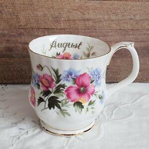 Royal Albert Flower of the Month ' August ' POPPY Coffee Mug Bone China England