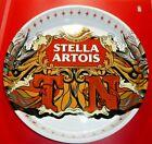 "Stella Artois Belgian Lager TN Tennessee Metal Tin Serving Server Tray 13"" Dia"