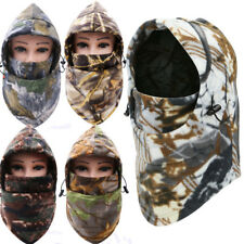 Cold Weather Balaclava Windproof Fleece Camo Hood for Hunting Ski Face Mask