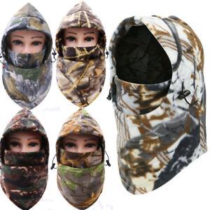 Cold Weather Balaclava Windproof Fleece Camo Hood for Hunting Ski Face Mask