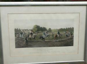 """ Newmarket Scene"" by Harrington Bird Engraved print"