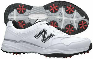 New Balance Men's NBG1701 Golf Shoes - White/Black, 8 M