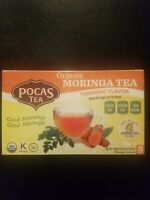 Pocas ORGANIC MORINGA TEA TURMERIC FLAVOR 20 Tea Bags Caffeine Free