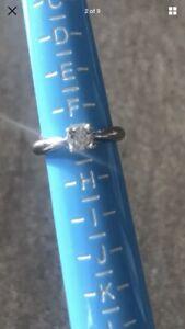 White Gold Diamond Engagement Ring Size G 18 Carat