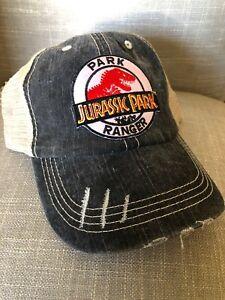 Jurassic Park Ranger Hat Trucker Claw Tan Embroidered Patch Cap Dinosaur Movie