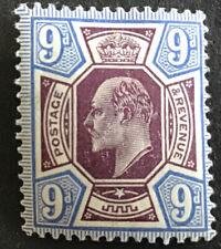 GB Edward VII 9d Purple & Ultramarine SG250 Mtd.Mint Minimum C/V £140 in 2016