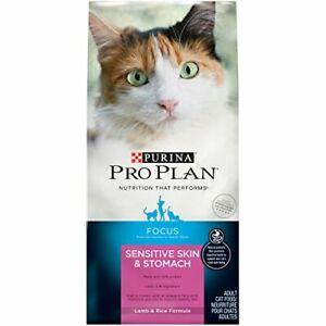 Purina Pro Plan Sensitive Stomach Dry Cat Food, Focus Sensitive Skin & Stomach L