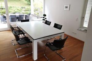 Pool Billard PRONTO VISION 7 ft Billardtisch und Esstisch weiß-matt Schiefer.