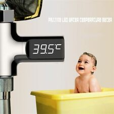 LED Digital Water Shower Flow Thermometer Smart Electricity Temperture Monitor
