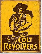 Colt Revolvers The World's Right Arm metal sign 400mm x 310mm (de)