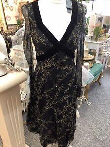 Nougat Lovely 100% Silk Dress Size 10 Bnwt