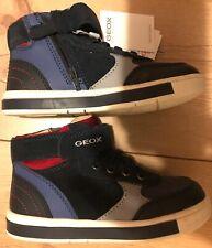 Geox Jungen B Trottola Boy D Sneaker Boots Stiefel Blau Rot NEU US 9, 26