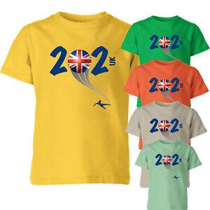 Uk 2021 Football Kids T Shirt Boys Soccer Training Jersey Sports Tee Top