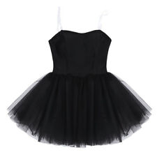 Women Black Strapless Ballet Dance Tutu Dress Ballerina Costumes For Adult Girls