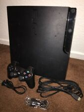 Used Sony PlayStation 3 PS3 Slim Console Complete Works Great Free Ship