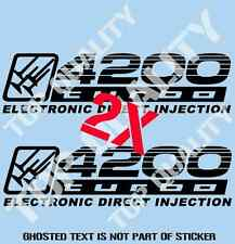 4200 TURBO EDI REPLACEMENT DECAL STICKER TO SUIT TOYOTA LANDCRUISER 4X4 STICKERS