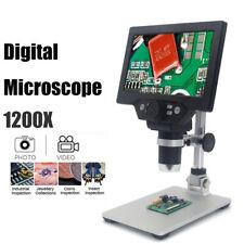 Digitalmikroskop 7 Zoll LCD-Display 12MP 1-1200X Microscope Lupe Ausverkauf