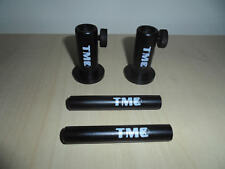 """2 x Anodized Aluminium Stage stands with locking nuts, with 2 x 3"""" inserts. Carp"""