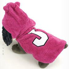 "JUICY COUTURE Medium PET HOODIE with EARS Female PINK DOG COAT White ""J"" JACKET"