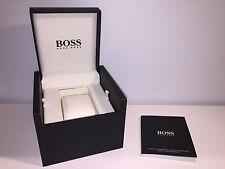 Used - HUGO BOSS Estuche Box Case Scatola + Instructions - For 1 watch - Black