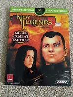 New Legends Official Strategy Guide Book Original Xbox Promo THQ Prima VTG