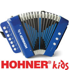 Hohner Kids Accordion Musical Player w/ Songbook Instrument Toy Blue Ages 4 & up
