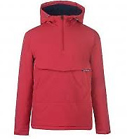 Kangol Red 1/4 Zip Jacket Pull Over Mens Size Large *REF132*