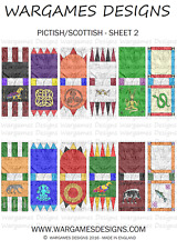 15mm Dark Age Pictish/Scottish Banners - Sheet 2 FOG, DBA, Hail Caesar, Impetus