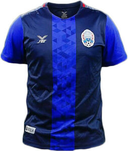 100% Authentic Cambodia National Football Soccer Team Jersey Shirt Blue Player