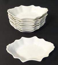 Limoges Elite L France French Porcelain White Embossed Pattern Nut Dishes Set