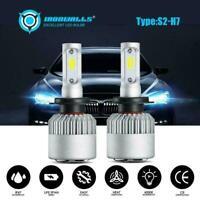 Car 72W 8000LM H7 LED Conversion Headlight KIT 6000K Bulbs Xenon White COB UK