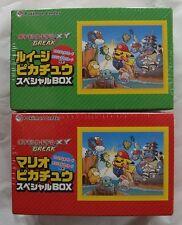 Japanese Pokemon Mario & Luigi Pikachu Special Box Sealed 2 Boxes Set