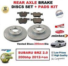 Pour Subaru Brz 2.0 200bhp 2012- > sur Essieu Arrière Frein Patins + Aéré