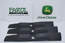 More details for genuine john deere m145476 blade set deck ride-on mower set of 3