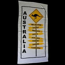 Beach Towel Australia Cities Australian Kangaroo Road Sign Quality Souvenir