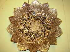 Vintage Gold and Brown Leaf decorative plate