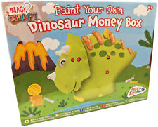 Paint Your Own Dinosaur Money Box Ceramic Piggy Bank Kids Activity Craft R030708