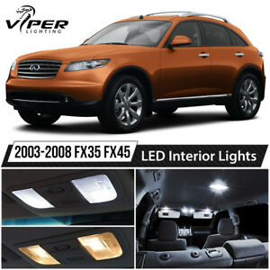 White LED Interior Lights Package Kit for 2003-2008 Infiniti FX35 FX45