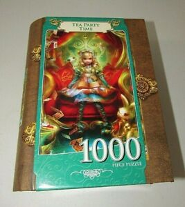 ALICE IN WONDERLAND TEA PARTY TIME 1000 PIECE FAIRYTALE BOOK BOX JIGSAW PUZZLE