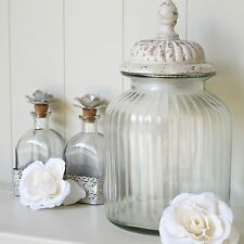 Large Glass Storage Jar With Stone Effect Lid Biscuit Sweetie Jar