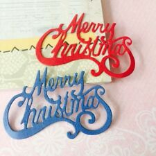 Merry Christmas Cutting Dies Stencil DIY Scrapbooking Embossing Paper Craft Gift