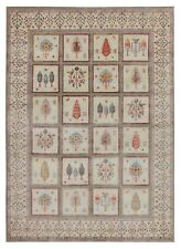 New Gabbeh Beige Cypress tree Antique Style Hand Knotted Wool & Silk Area Rugs