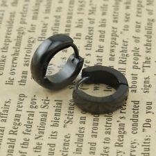 New Unisex Stainless Steel Hoop Earrings Huggie Helix Curved Cartilage Stud Ear
